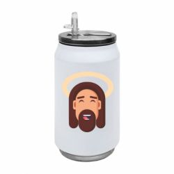 Термобанка 350ml Jesus flat vector