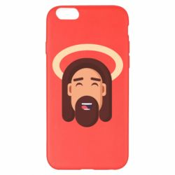 Чехол для iPhone 6 Plus/6S Plus Jesus flat vector