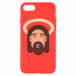 Чехол для iPhone 7 Jesus flat vector