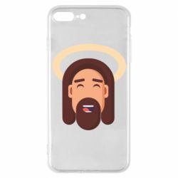 Чехол для iPhone 7 Plus Jesus flat vector