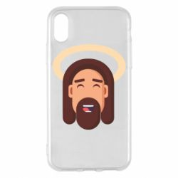 Чехол для iPhone X/Xs Jesus flat vector