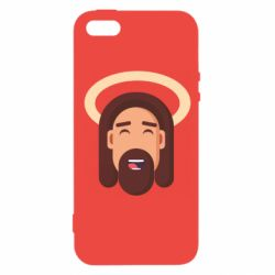 Чехол для iPhone5/5S/SE Jesus flat vector