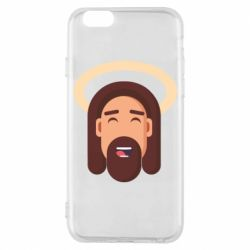 Чехол для iPhone 6/6S Jesus flat vector