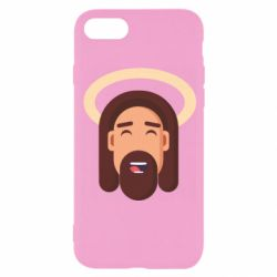 Чехол для iPhone 8 Jesus flat vector