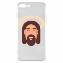 Чехол для iPhone 8 Plus Jesus flat vector