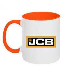 Кружка двоколірна 320ml Jgb logo2