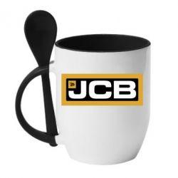 Кружка з керамічною ложкою Jgb logo2