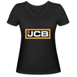 Жіноча футболка з V-подібним вирізом Jgb logo2
