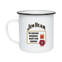 Кружка емальована Jim beam accident