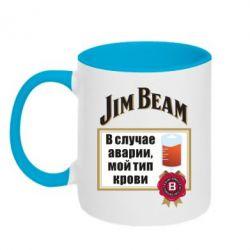 Кружка двоколірна 320ml Jim beam accident
