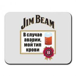 Килимок для миші Jim beam accident