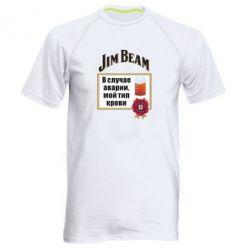 Чоловіча спортивна футболка Jim beam accident
