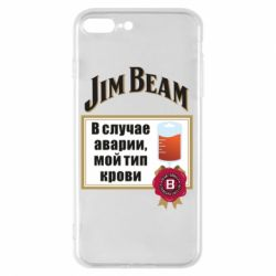 Чохол для iPhone 8 Plus Jim beam accident