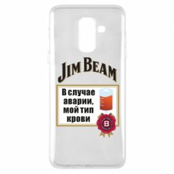 Купить Чехол для Samsung A6+ 2018 Jim beam accident, FatLine