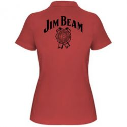 Жіноча футболка поло Jim Beam logo