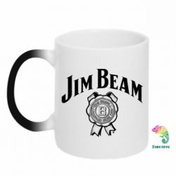 Кружка-хамелеон Jim Beam logo
