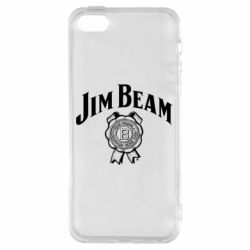 Чохол для iphone 5/5S/SE Jim Beam logo