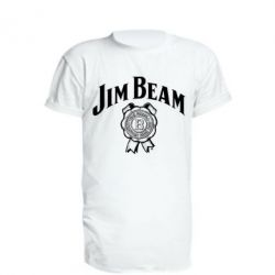 Подовжена футболка Jim Beam logo