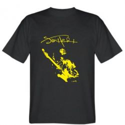 Мужская футболка Jimi Hendrix афтограф - FatLine