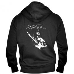 Мужская толстовка на молнии Jimi Hendrix афтограф - FatLine