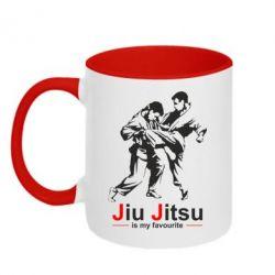 Кружка двухцветная Jiu Jitsu