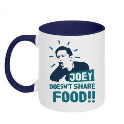 Кружка двухцветная 320ml Joey doesn't share food!