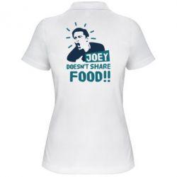 Женская футболка поло Joey doesn't share food!