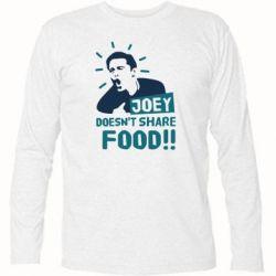 Футболка с длинным рукавом Joey doesn't share food!