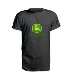 Подовжена футболка John Deere logo