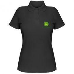 Жіноча футболка поло John Deere logo