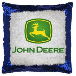 Подушка-хамелеон John Deere logo
