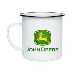 Кружка емальована John Deere logo