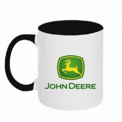 Кружка двоколірна 320ml John Deere logo