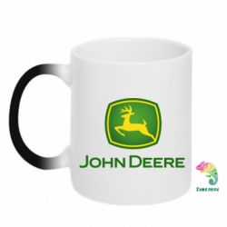 Кружка-хамелеон John Deere logo