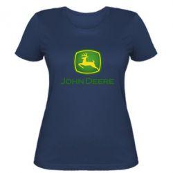 Жіноча футболка John Deere logo