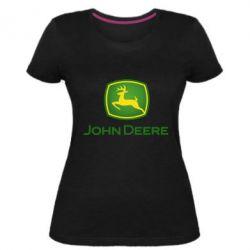 Жіноча стрейчева футболка John Deere logo