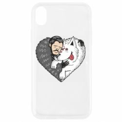 Чохол для iPhone XR John snow and a wolf named ghost