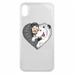 Чохол для iPhone Xs Max John snow and a wolf named ghost