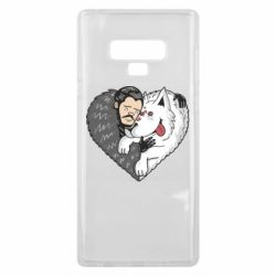 Чохол для Samsung Note 9 John snow and a wolf named ghost
