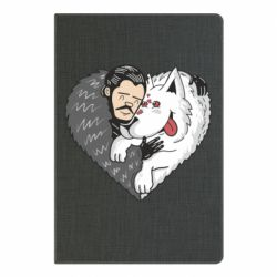 Блокнот А5 John snow and a wolf named ghost