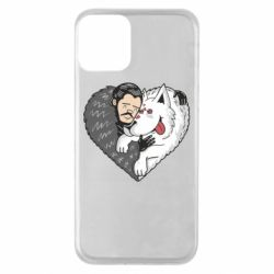 Чохол для iPhone 11 John snow and a wolf named ghost