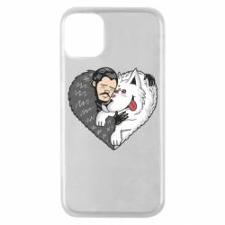 Чохол для iPhone 11 Pro John snow and a wolf named ghost