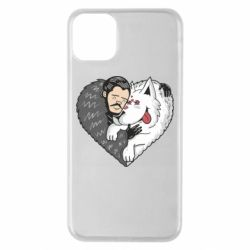 Чохол для iPhone 11 Pro Max John snow and a wolf named ghost