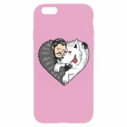 Чохол для iPhone 6 Plus/6S Plus John snow and a wolf named ghost