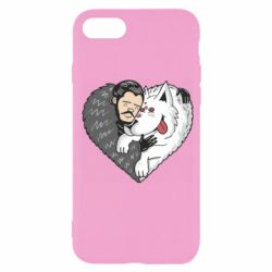 Чохол для iPhone 7 John snow and a wolf named ghost