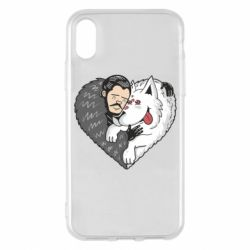 Чохол для iPhone X/Xs John snow and a wolf named ghost