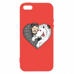 Чохол для iphone 5/5S/SE John snow and a wolf named ghost
