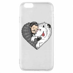 Чохол для iPhone 6/6S John snow and a wolf named ghost