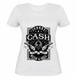 Жіноча футболка Johnny cash mean as hell