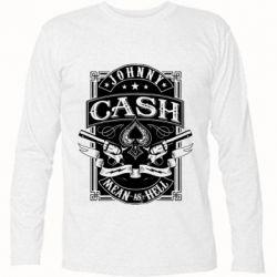 Футболка з довгим рукавом Johnny cash mean as hell